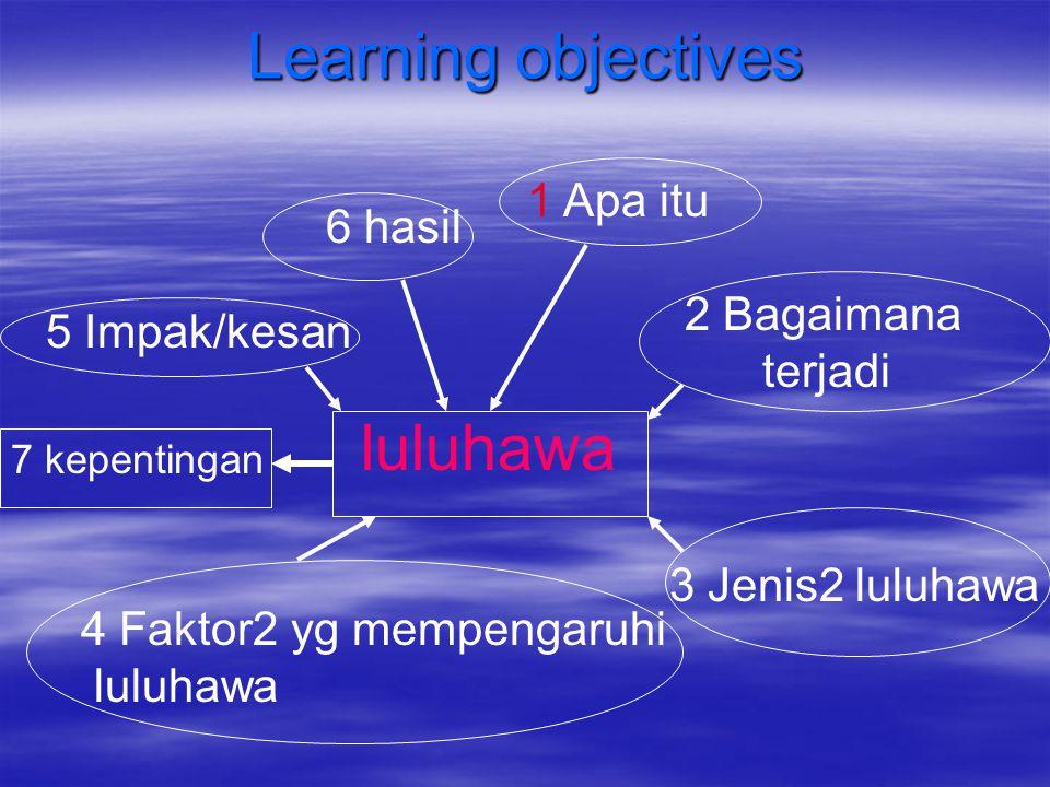 Learning objectives luluhawa 1 Apa itu 6 hasil 2 Bagaimana