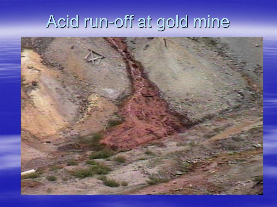 Acid run-off at gold mine