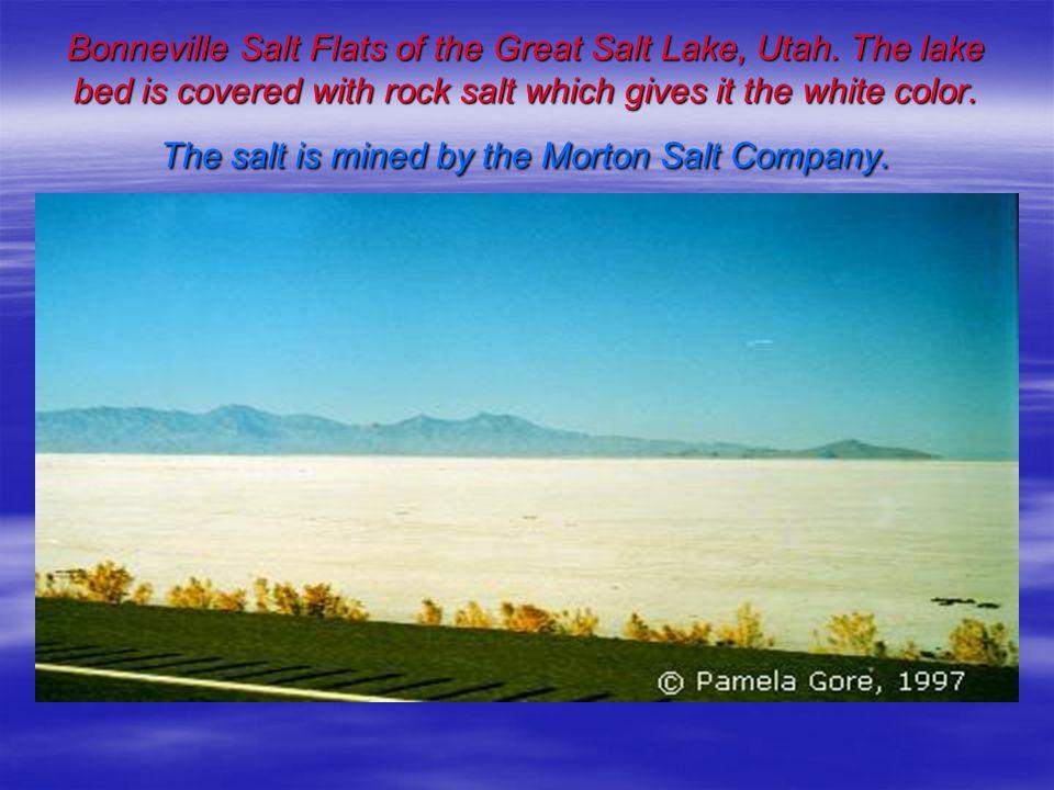 Bonneville Salt Flats of the Great Salt Lake, Utah