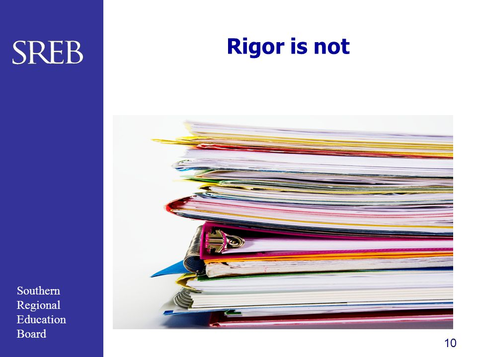 Rigor is not Fifth sheets of homework