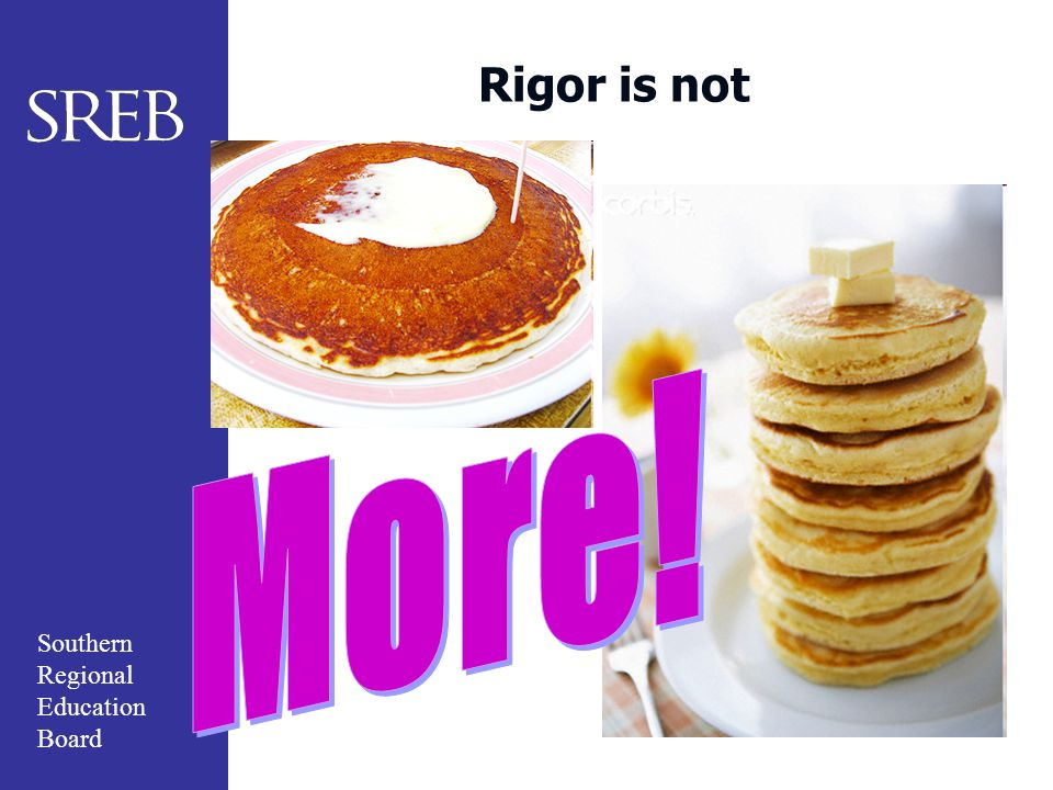Rigor is not More!