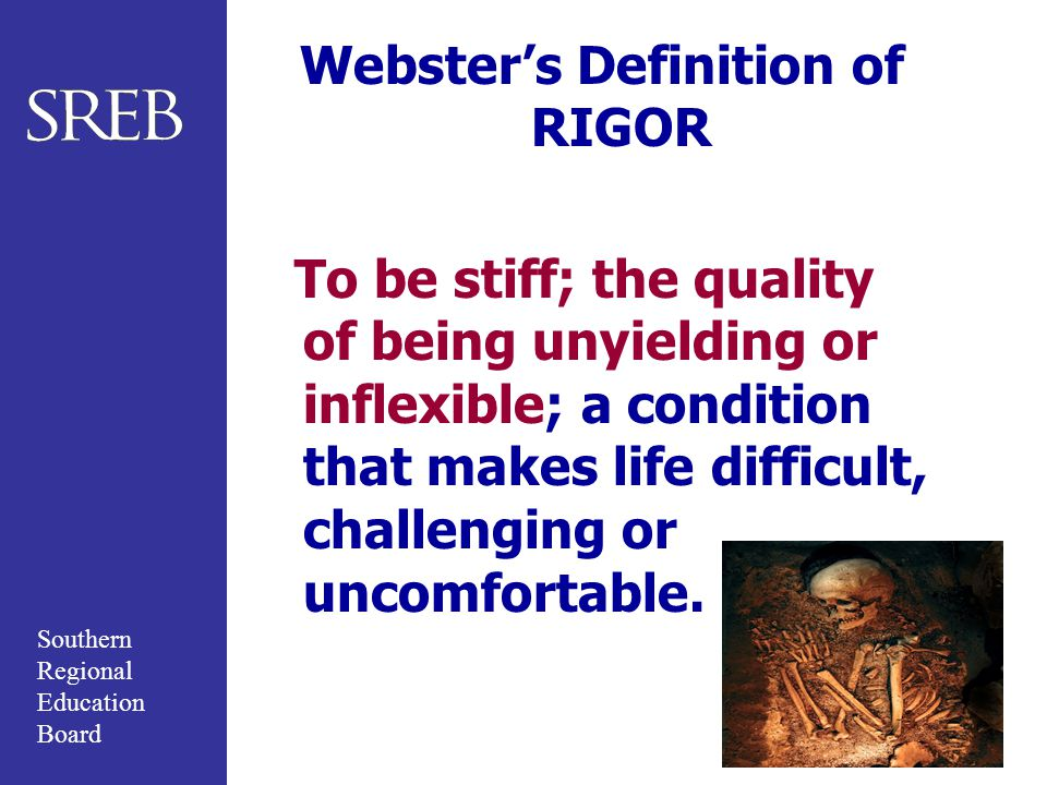 Webster's Definition of RIGOR