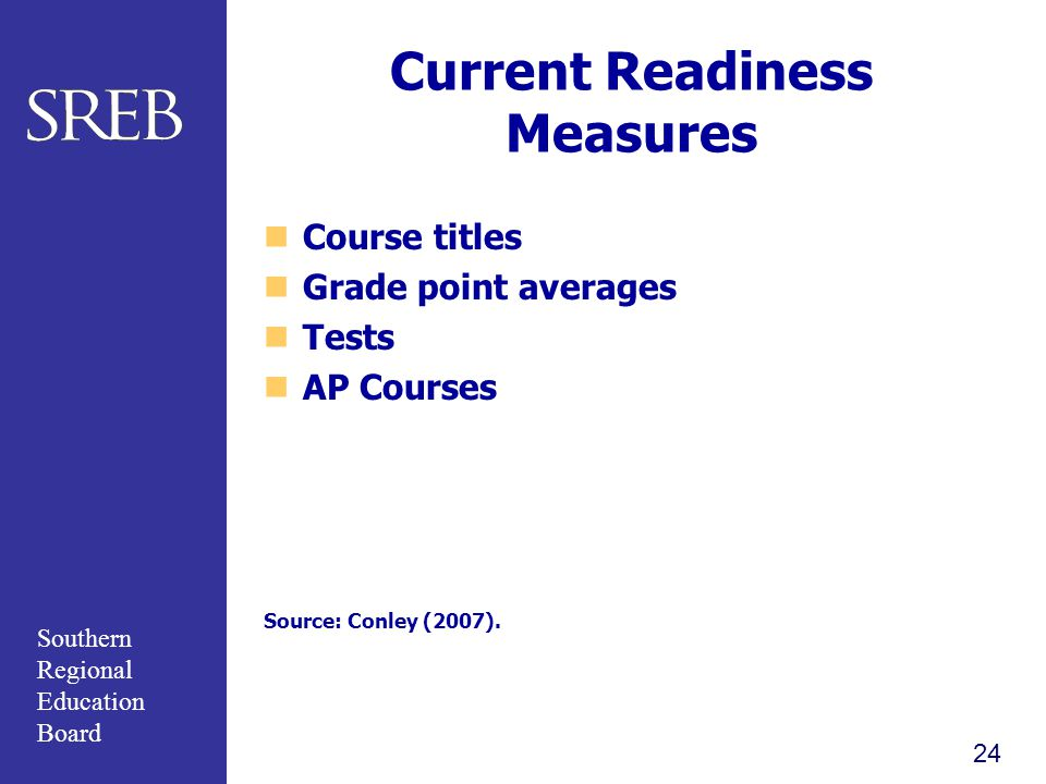 Current Readiness Measures