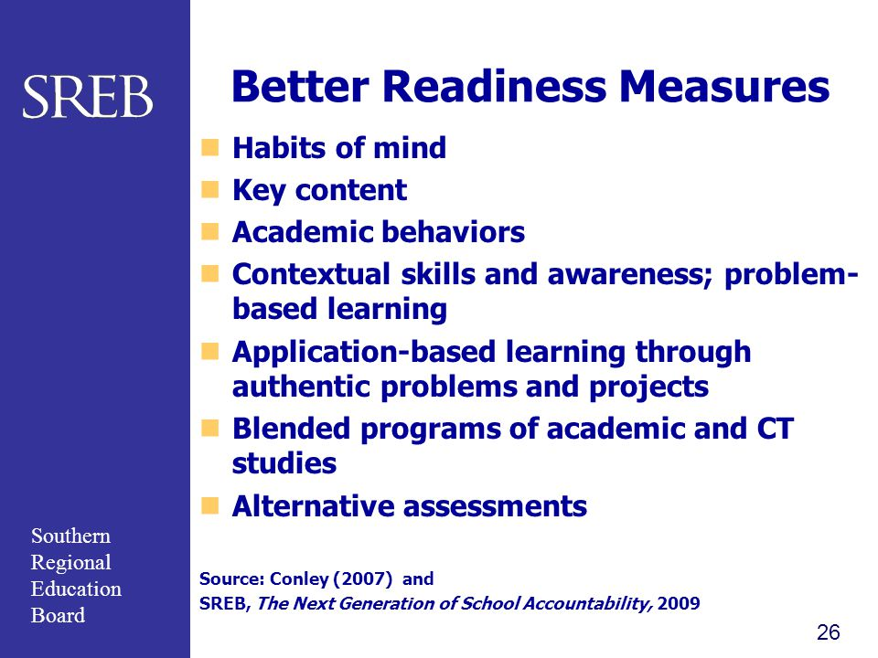 Better Readiness Measures
