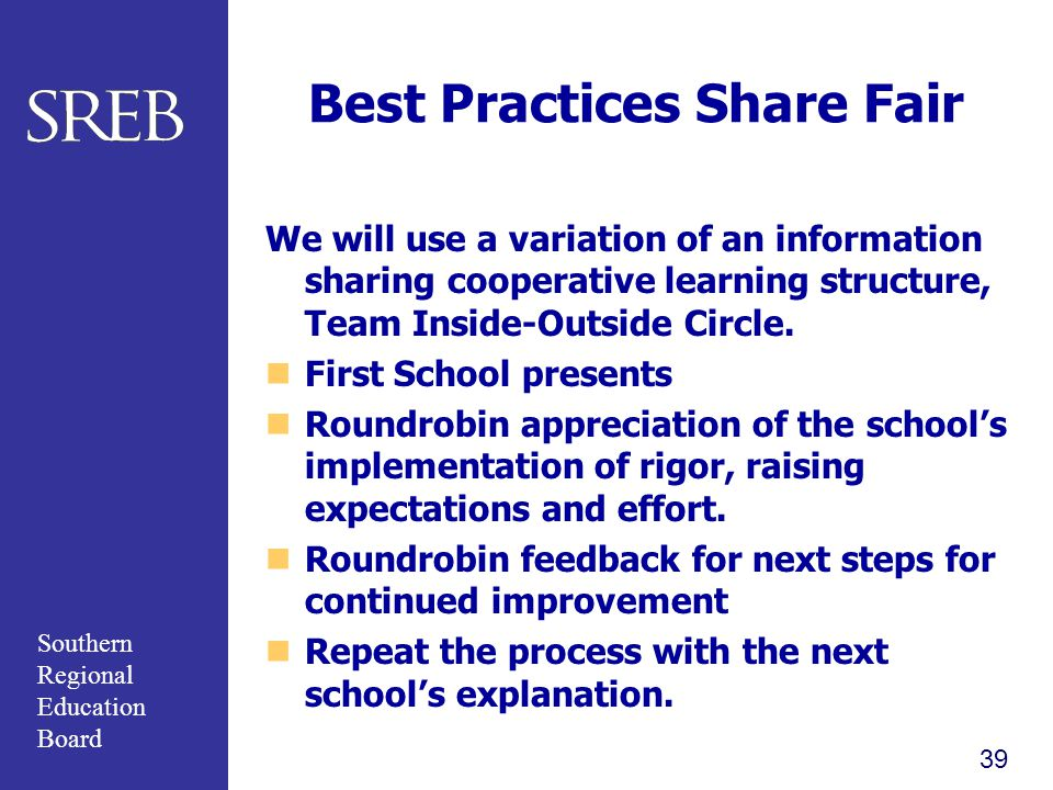 Best Practices Share Fair