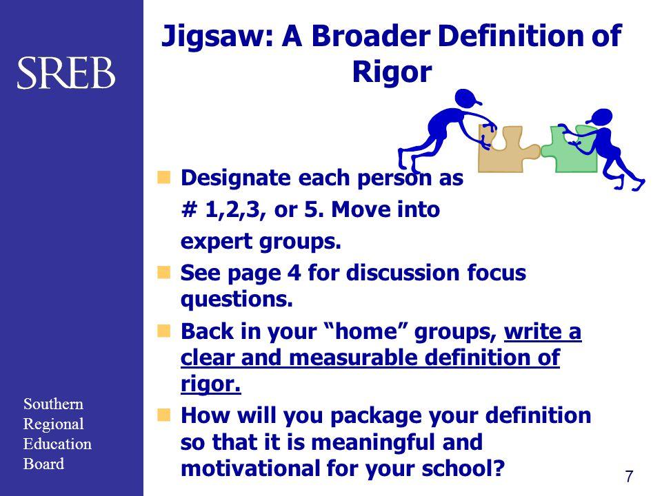 Jigsaw: A Broader Definition of Rigor