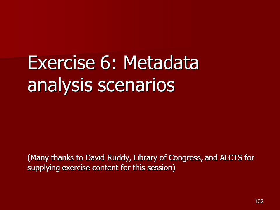Exercise 6: Metadata analysis scenarios