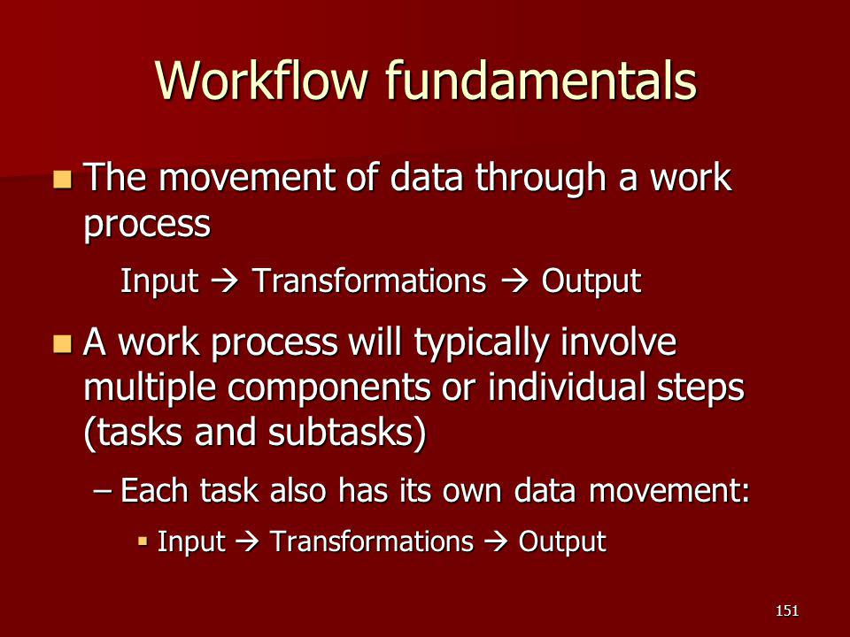 Workflow fundamentals