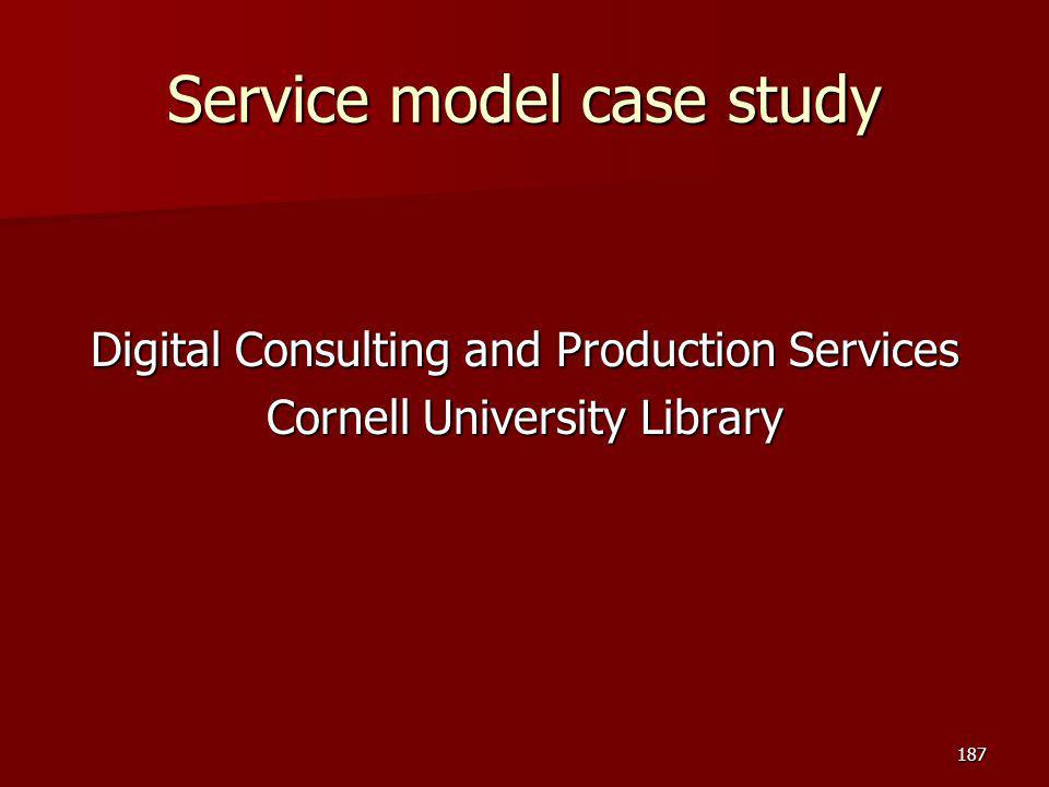 Service model case study
