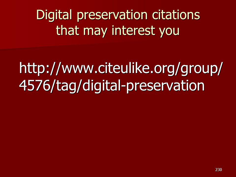 Digital preservation citations that may interest you