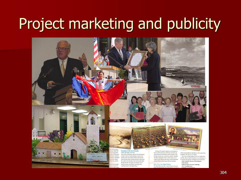 Project marketing and publicity