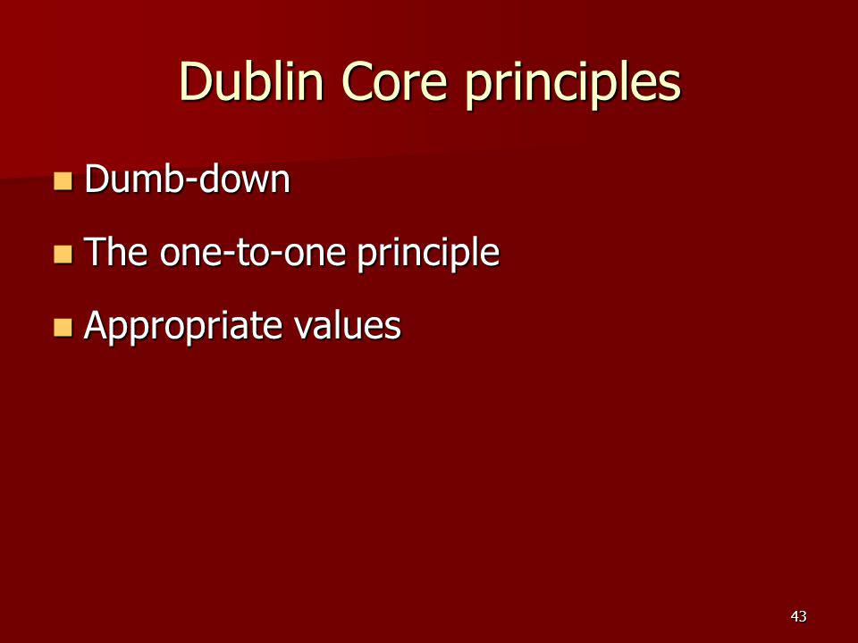 Dublin Core principles
