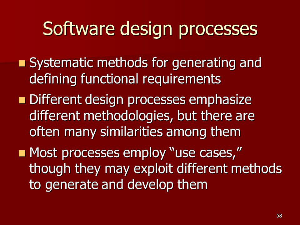 Software design processes