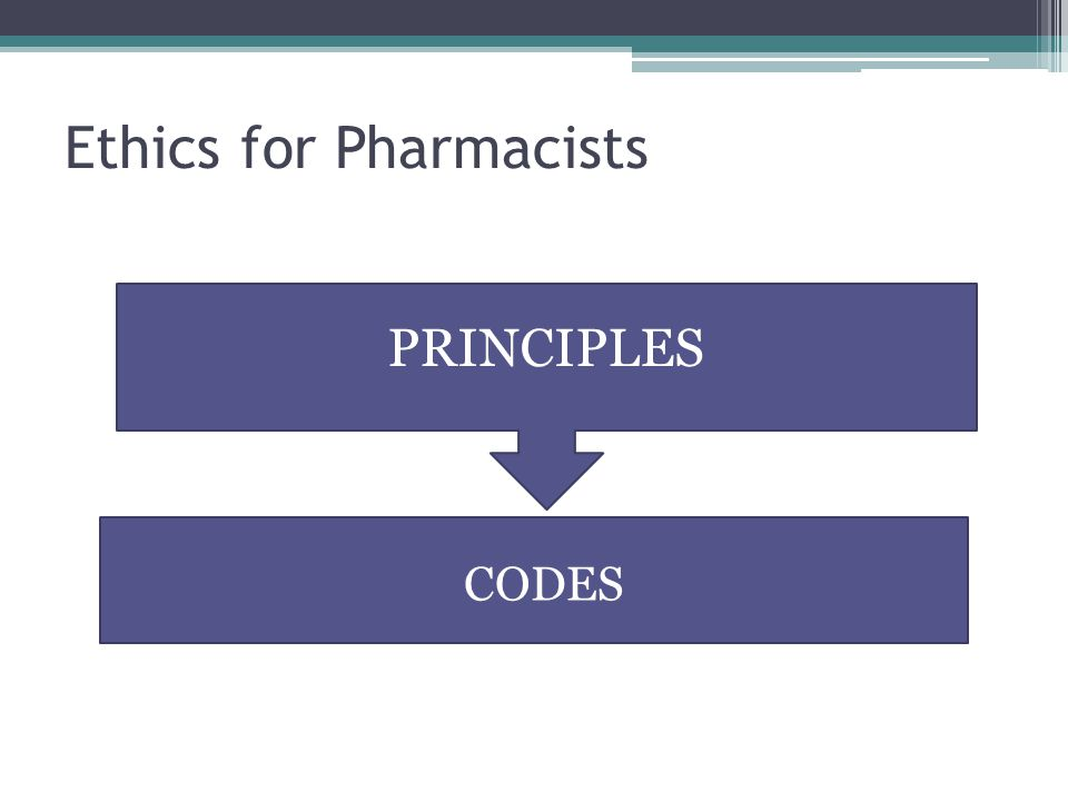 Ethics for Pharmacists