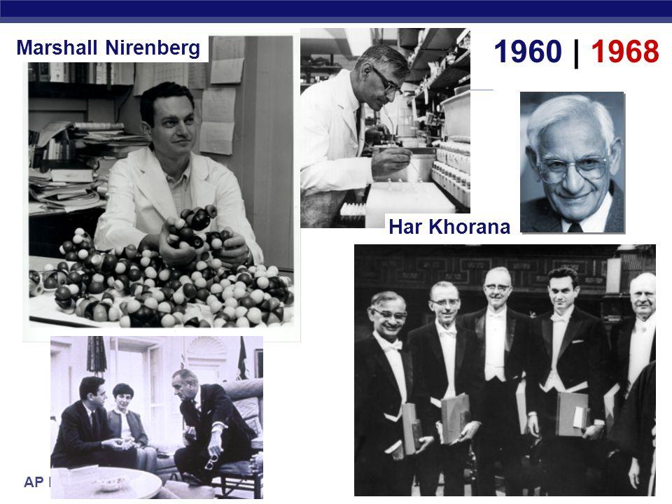 Marshall Nirenberg 1960 | 1968 Har Khorana