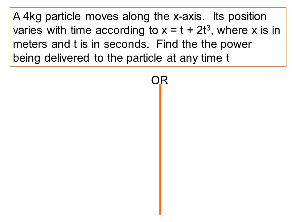 A 4kg particle moves along the x-axis