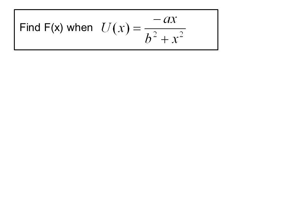 Find F(x) when
