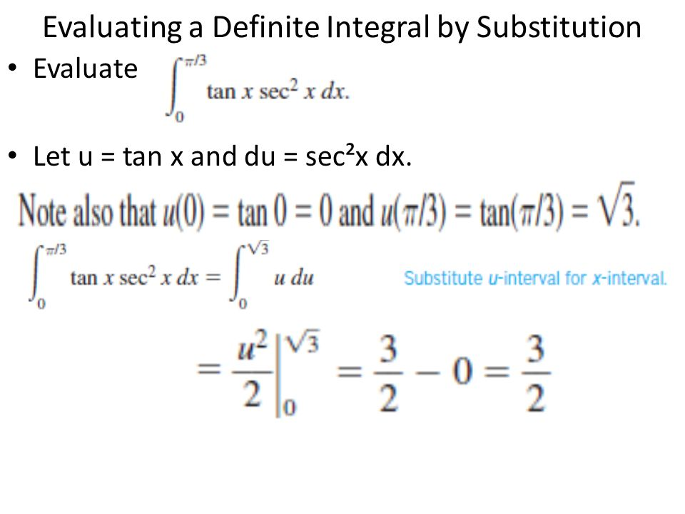 Evaluating a Definite Integral by Substitution