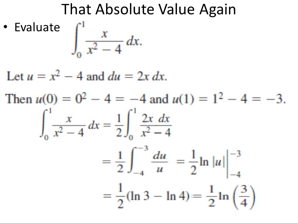 That Absolute Value Again