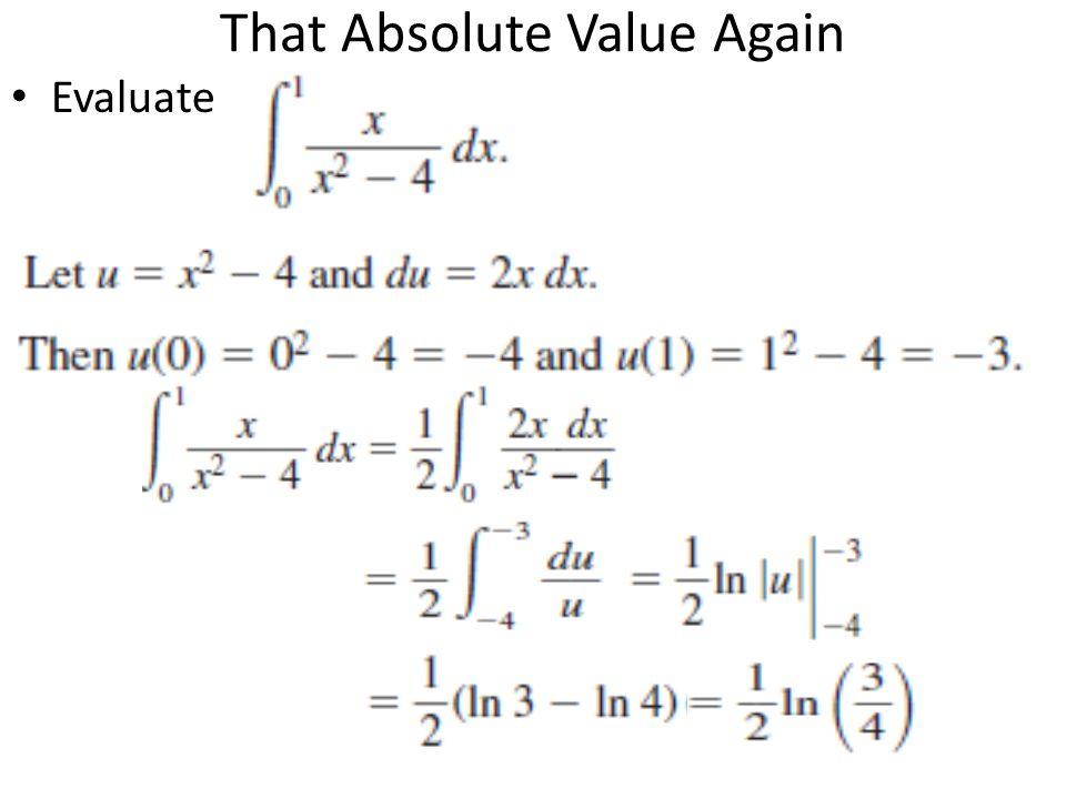 Definite integration with u substitution homework