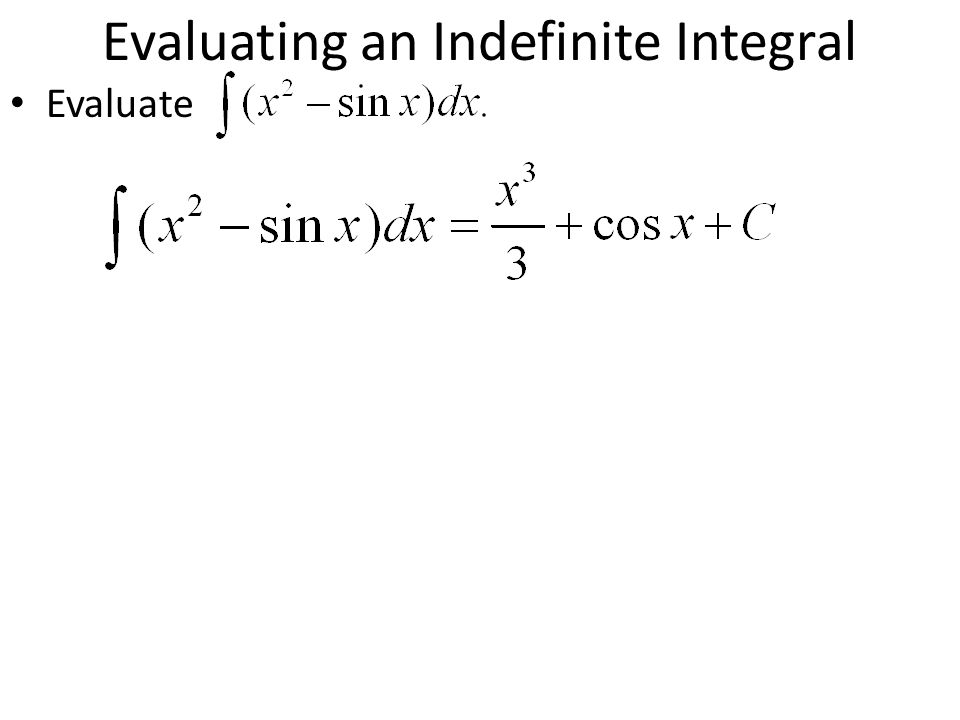 Evaluating an Indefinite Integral