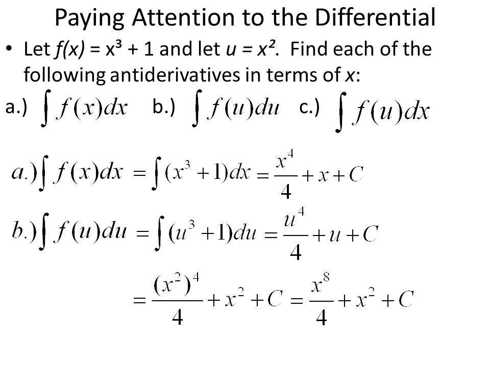 Paying Attention to the Differential