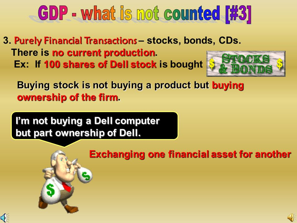 GDP - what is not counted [#3]