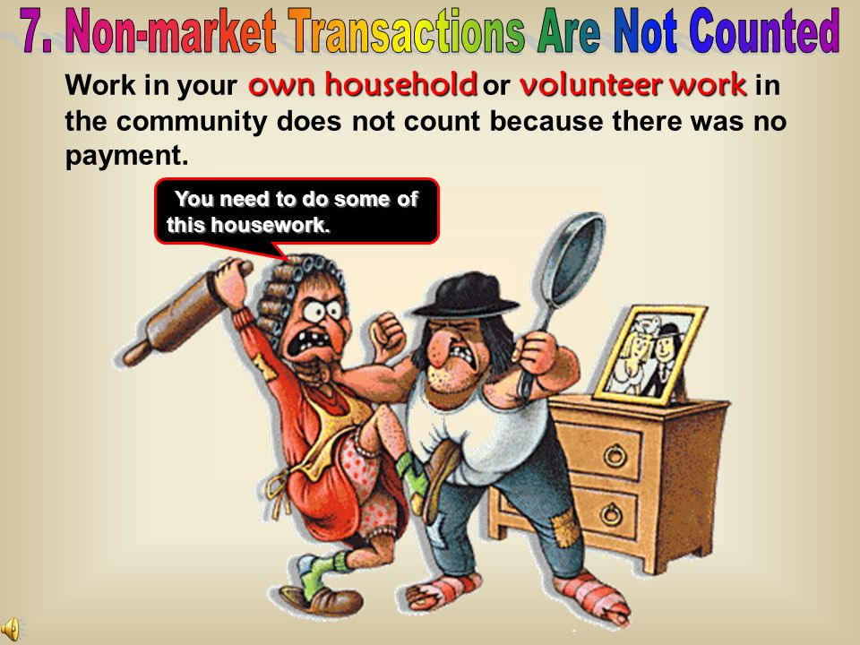 7. Non-market Transactions Are Not Counted