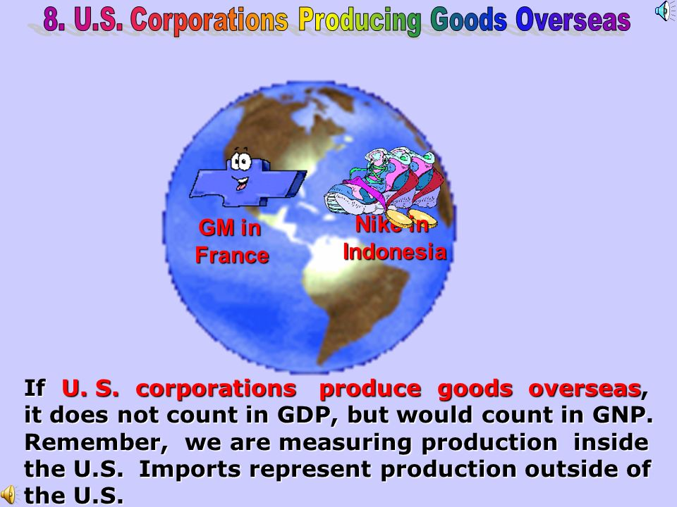 8. U.S. Corporations Producing Goods Overseas