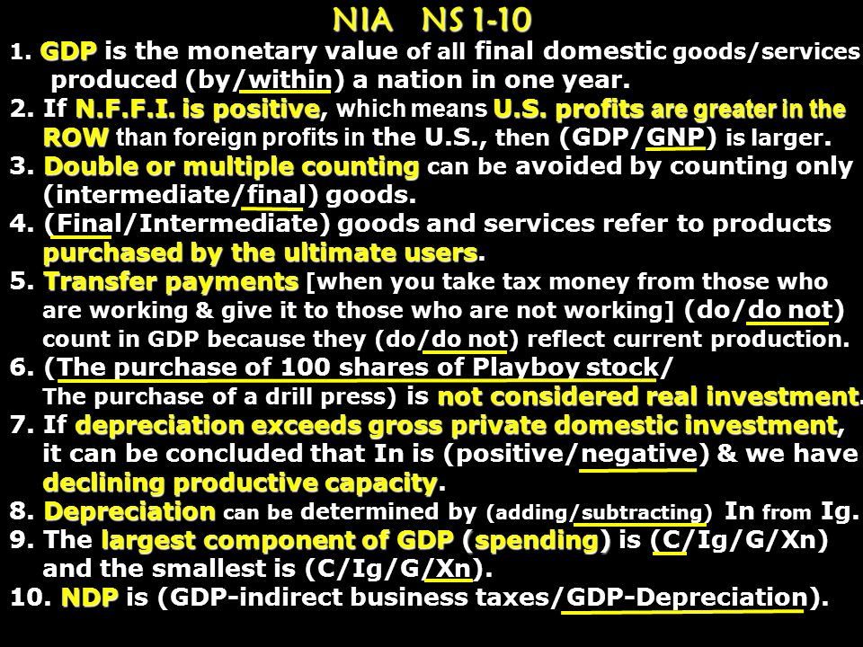 NIA NS 1-10 produced (by/within) a nation in one year.