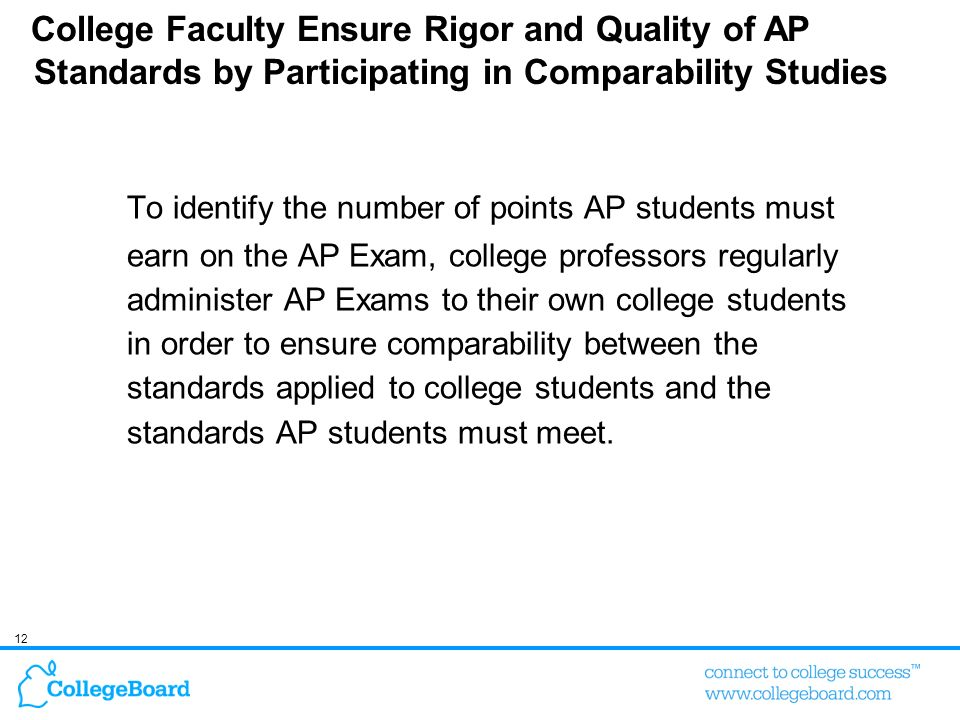 College Faculty Ensure Rigor and Quality of AP Standards by Participating in Comparability Studies
