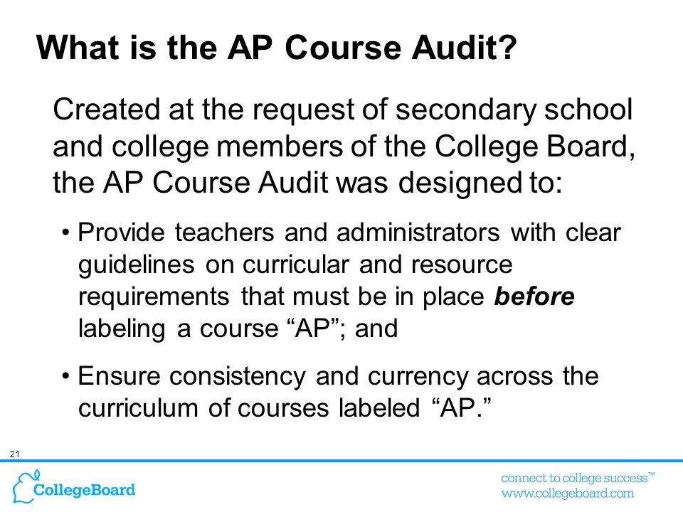 What is the AP Course Audit