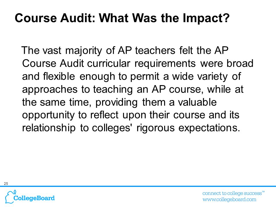 Course Audit: What Was the Impact