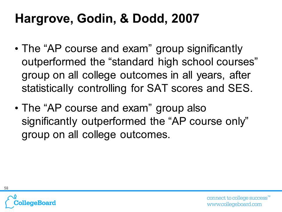Hargrove, Godin, & Dodd, 2007