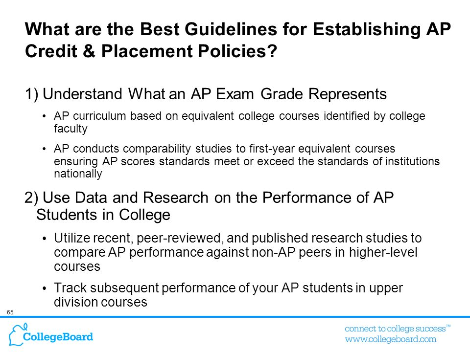 What are the Best Guidelines for Establishing AP Credit & Placement Policies