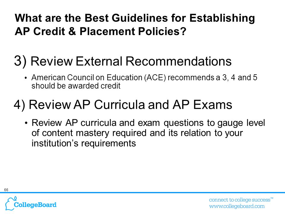 3) Review External Recommendations