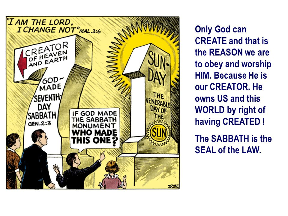 Only God can CREATE and that is the REASON we are to obey and worship HIM. Because He is our CREATOR. He owns US and this WORLD by right of having CREATED !