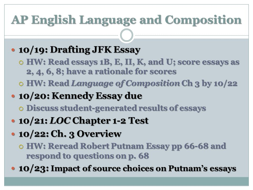 AP English Language and Composition: Essays