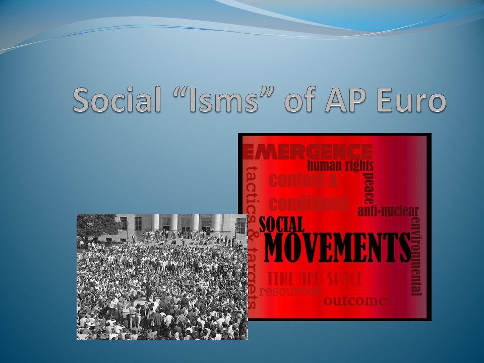 Social Isms of AP Euro