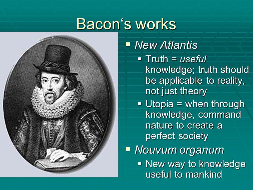Bacon's works New Atlantis Nouvum organum