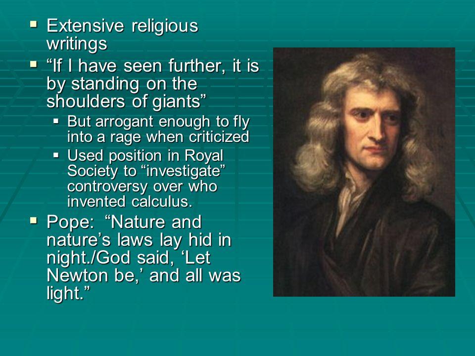 Extensive religious writings