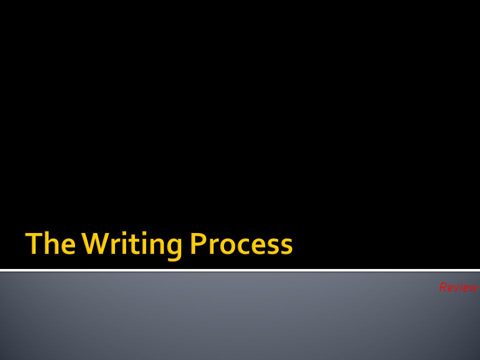 The Writing Process Review