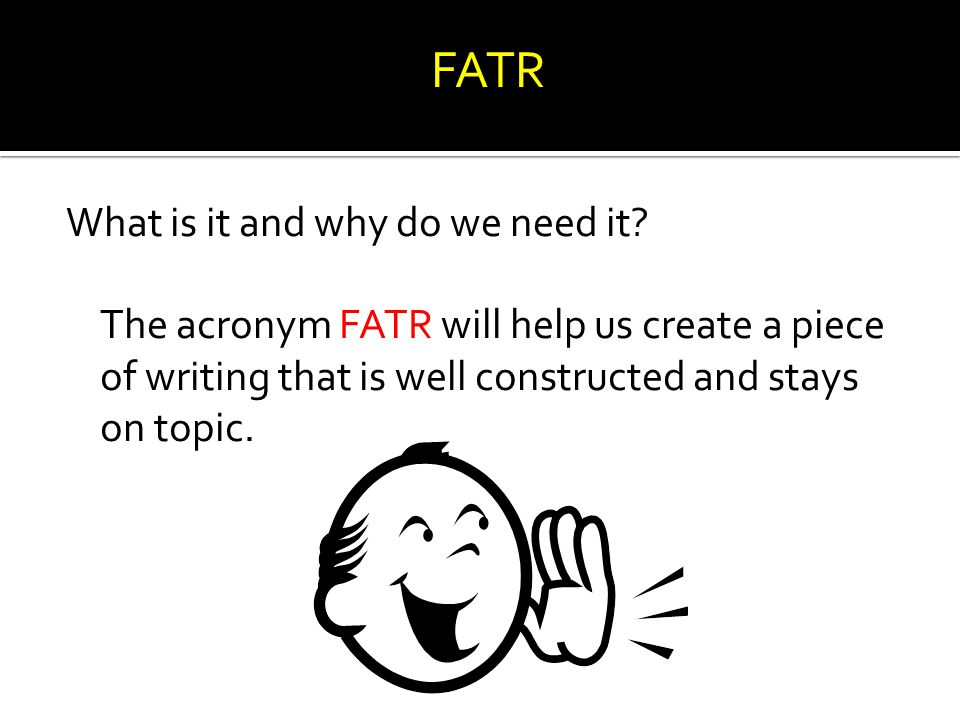 FATR What is it and why do we need it.