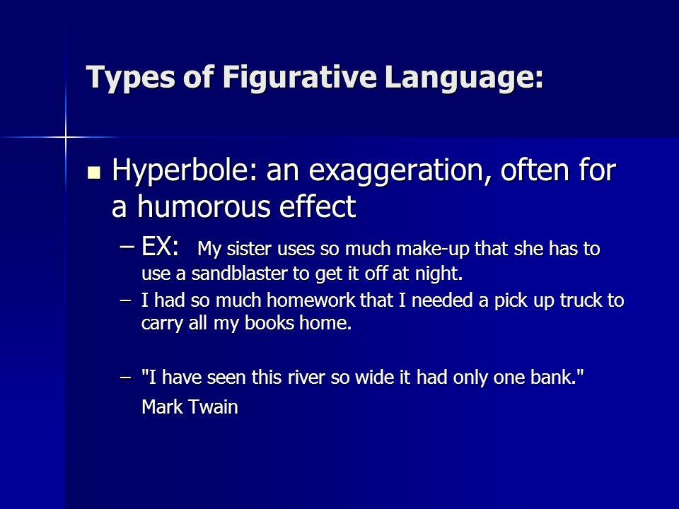 Types of Figurative Language: