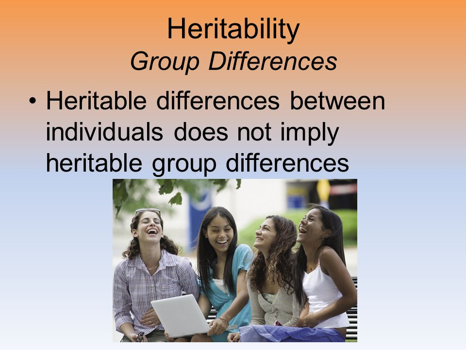 Heritability Group Differences