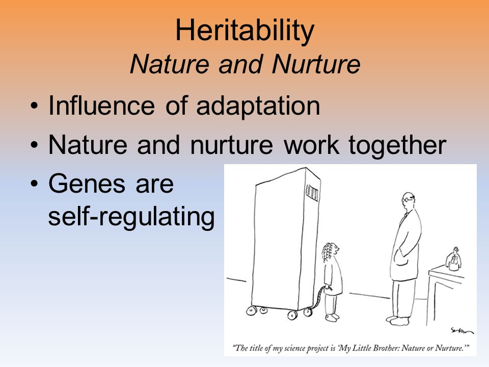 Heritability Nature and Nurture