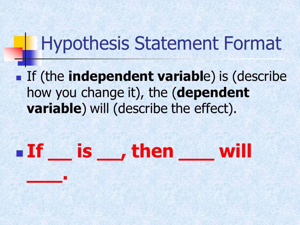 Formal hypothesis | Essay - September 2019 - 1236 words