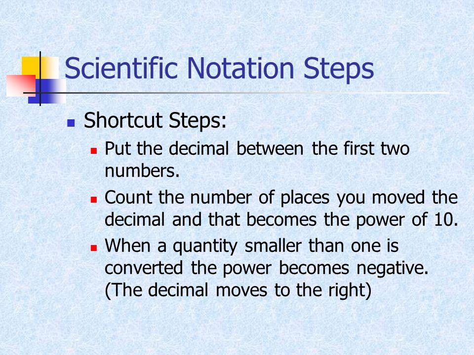 Scientific Notation Steps