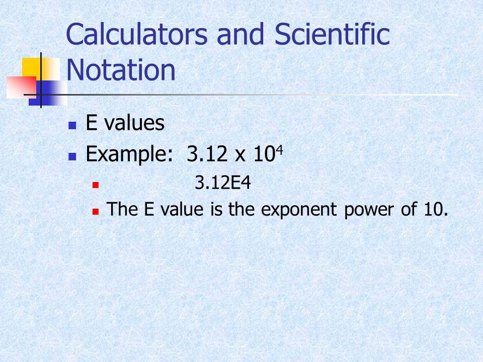Calculators and Scientific Notation