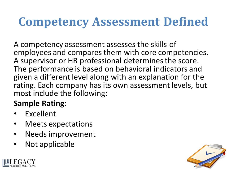Competency Assessment Defined